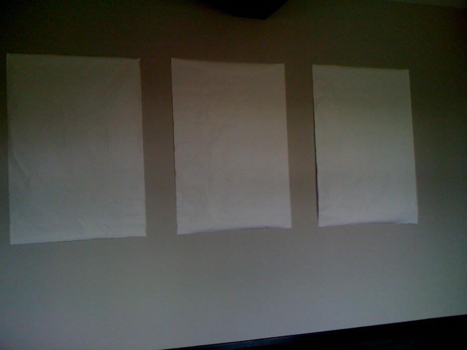 1 – prise de mesure sur le mur