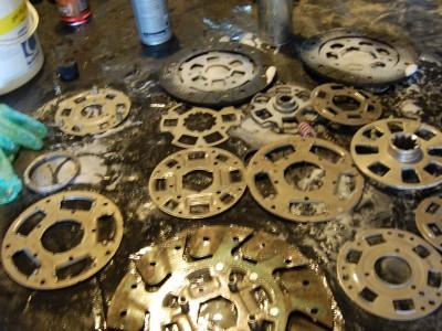 3 – demontage des disques d'embrayage
