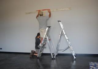 installation au mur