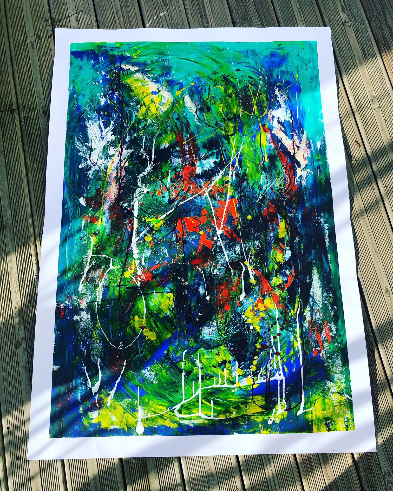 Nouvelle vision 130 x 90 Acrylique sur feuille de papier